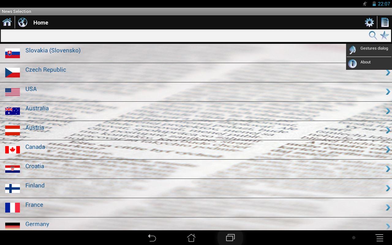 News Selection Newspapers - screenshot