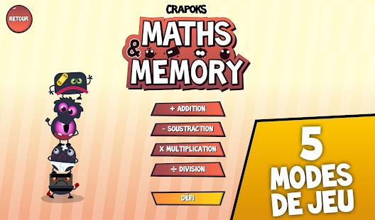 Crapoks : Maths & Memo - screenshot thumbnail