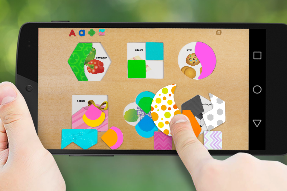Shape matching puzzle- screenshot