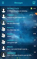 Screenshot of GO SMS PRO STARRY II THEME