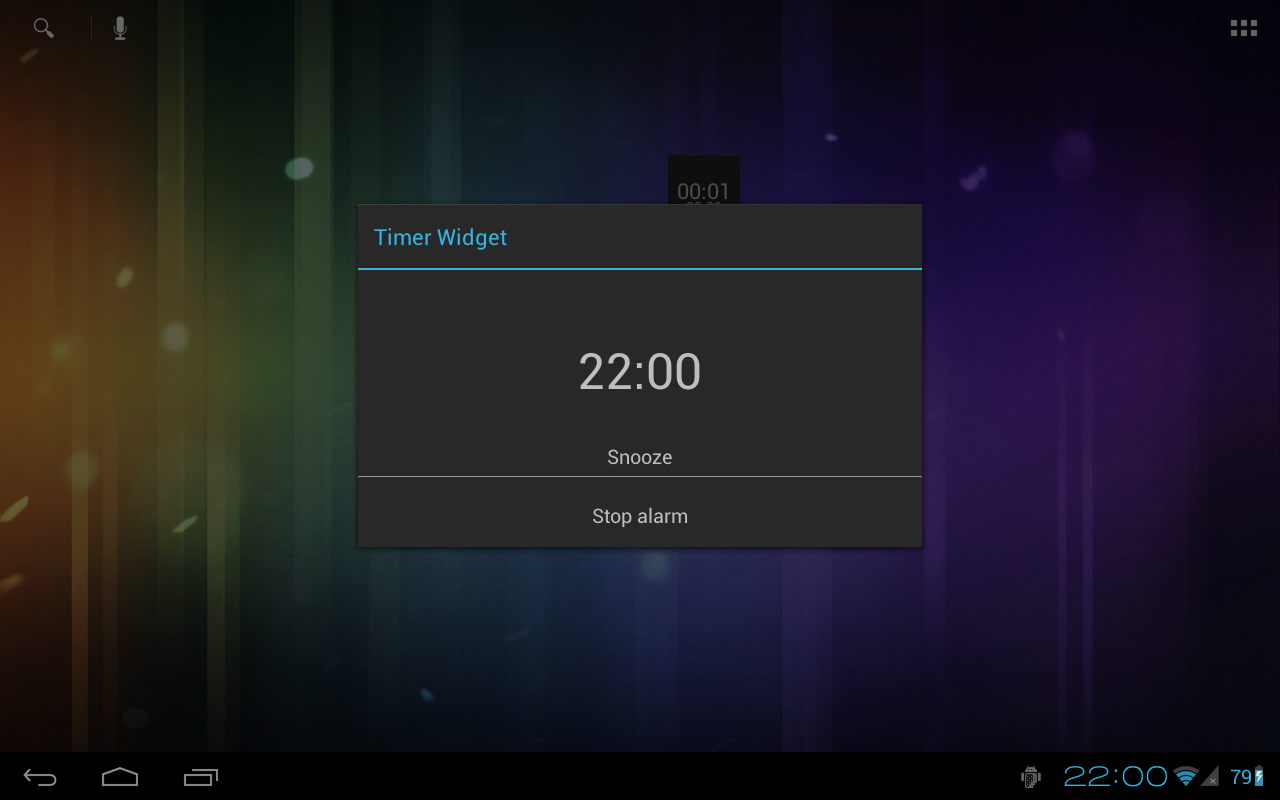 Holo Timer Widget- screenshot