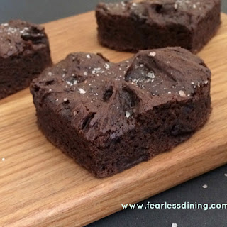 Gluten Free Brownies With Vanilla Salt
