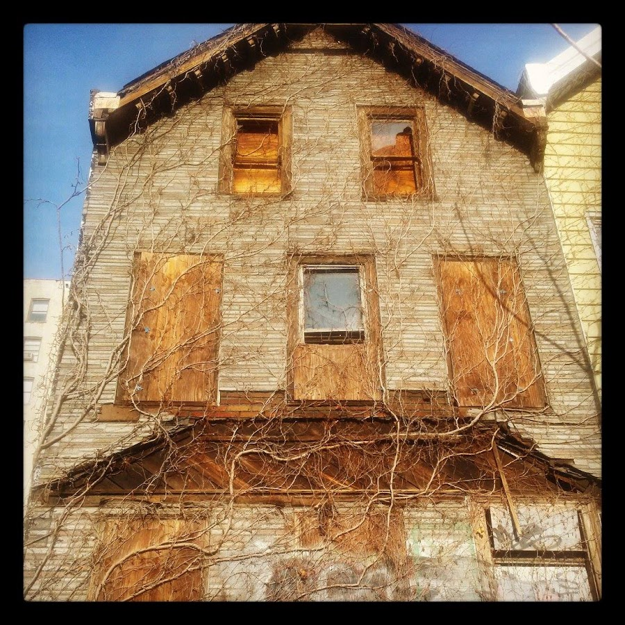 Washington Heights, NYC 187th Street. by Angela Theresa Egic - Instagram & Mobile Android ( old house, boarded, washington heights, nyc, abandoned, building,  )