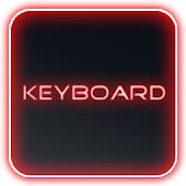 Glow Legacy Red Keyboard Skin