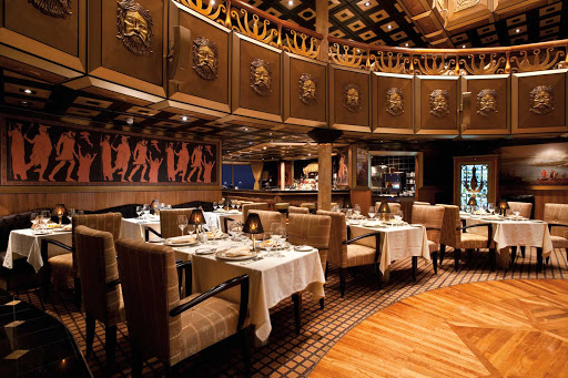 Carnival-Legend-Golden-Fleece-restaurant - The Golden Fleece restaurant on Carnival Legend serves steaks, lamb and lobster in an intimate atmosphere.