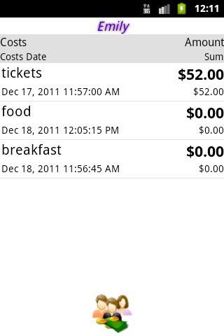 Share Costs- screenshot