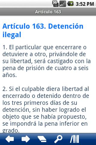 Spanish Penal Code - screenshot