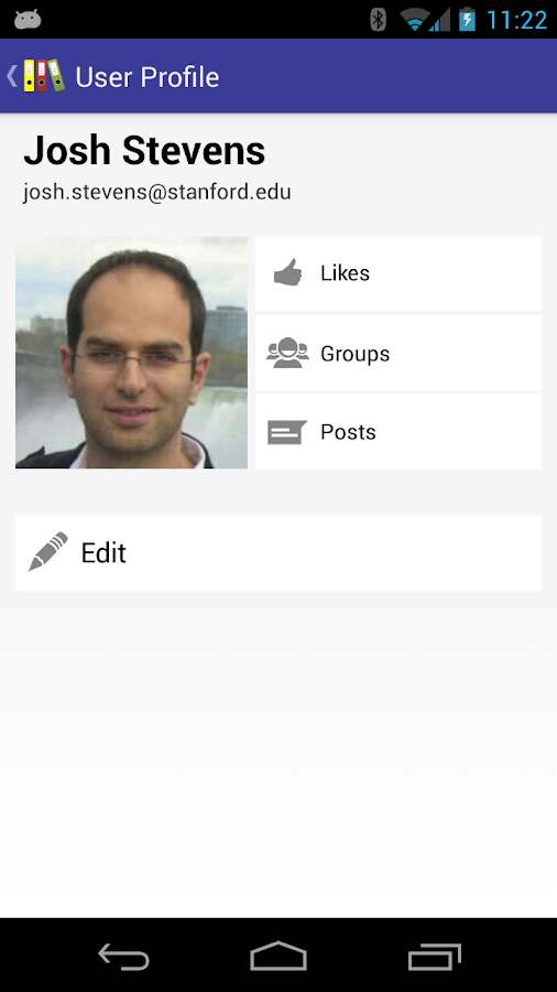 MyGroups - screenshot