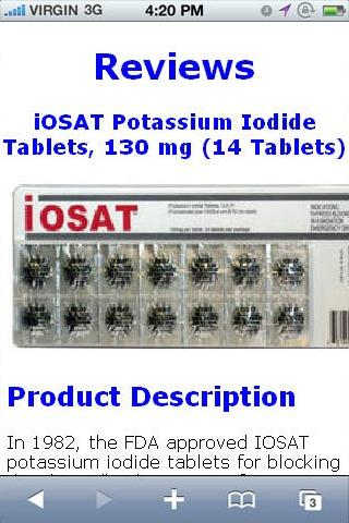 Potassium Iodide Tablet Review
