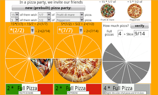 How much pizza to order?- screenshot thumbnail