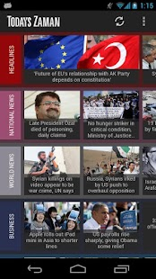 Today's Zaman- screenshot thumbnail