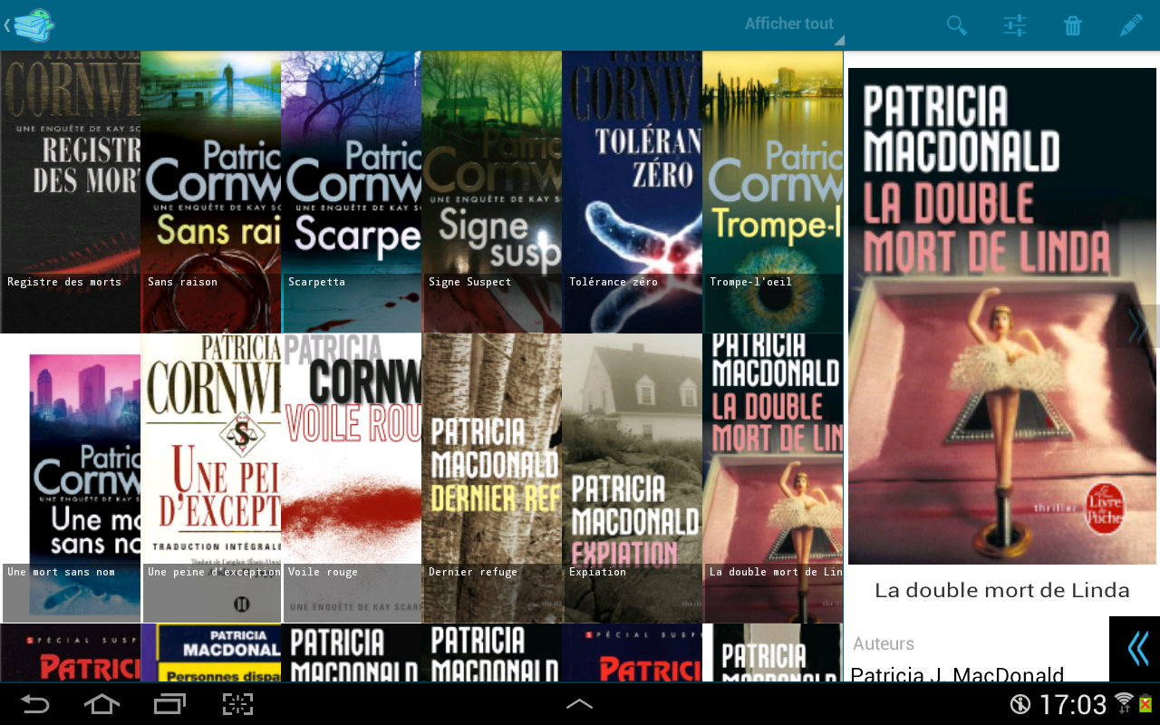 My books- screenshot