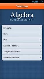 Algebra Course Assistant Screenshot 1