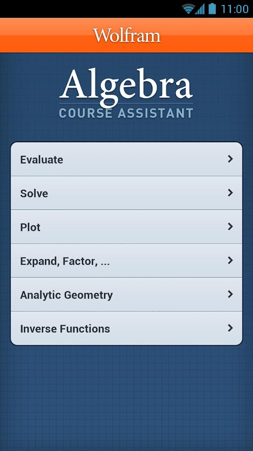 Algebra Course Assistant - screenshot