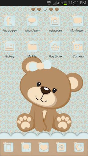 Go Launcher Teddy Bear Teal