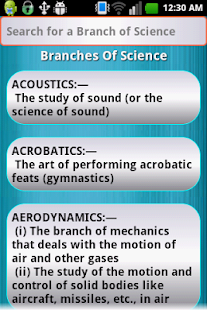 Branches of Science- screenshot thumbnail