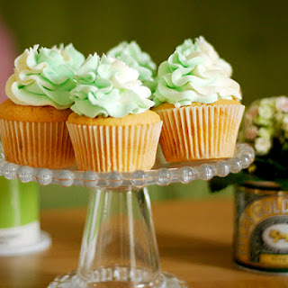 Wasabi & White Chocolate Cupcakes.
