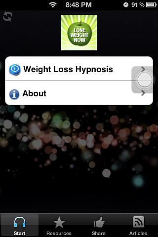 Lose Weight & Fat Hypnosis App - screenshot