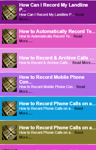 Automatic Call Recorder guide