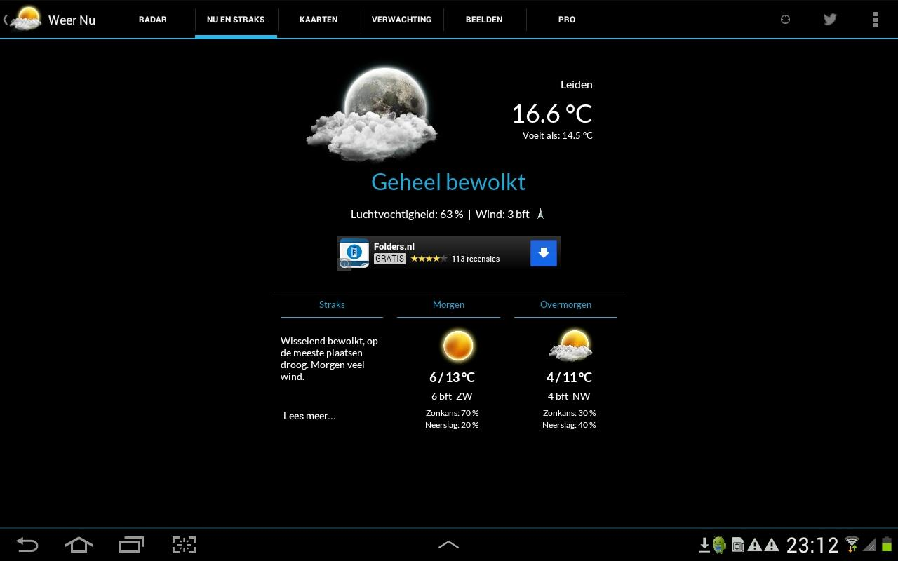 Weer Nu - Weerbericht Gratis - screenshot
