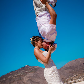 by Alexander Hadji - Wedding Other ( wedding, greece, bride, upsidedown )