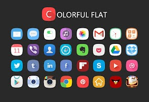 Screenshot of Flat Solo Launcher Theme