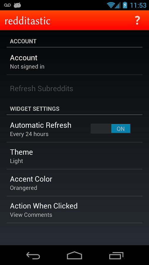redditastic – reddit widget - screenshot