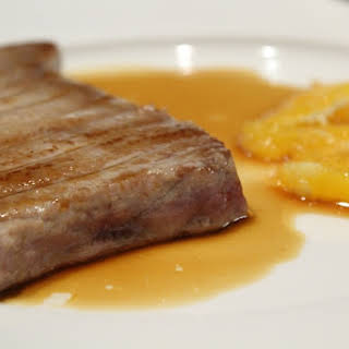 Tuna Steak with Soy Sauce and Orange.