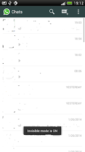 Invisible Whatsapp Free - screenshot thumbnail