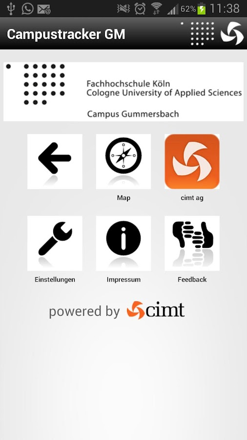 Campustracker Gummersbach - screenshot