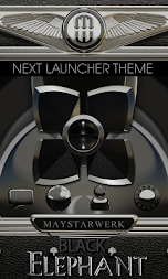 Next Launcher Theme Black Elephant APK screenshot thumbnail 1