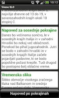 Screenshot of Vreme SLO