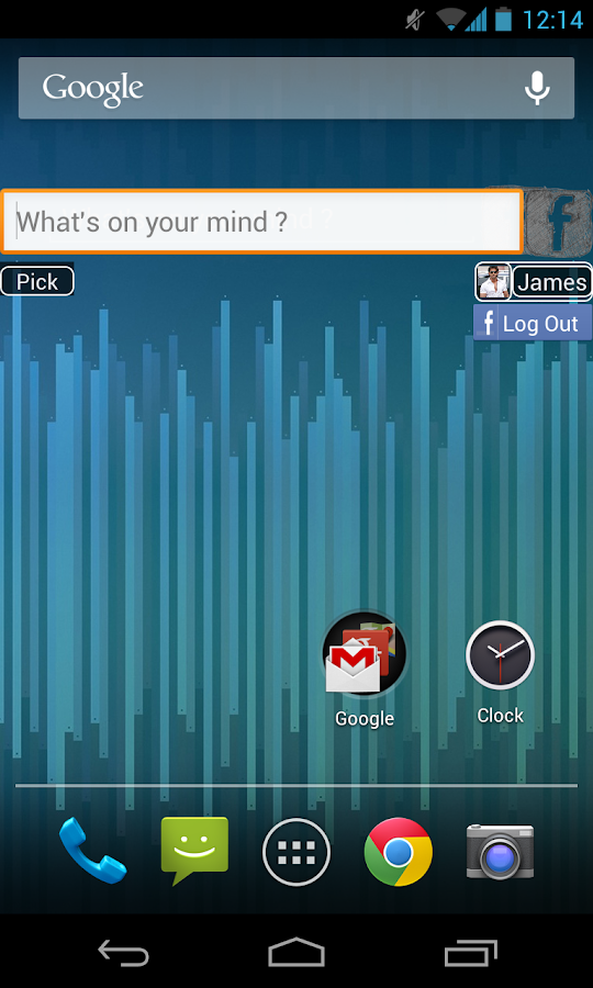 Facebook Status Update Widget - screenshot
