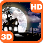 Haunted House Full Moon Bats icon