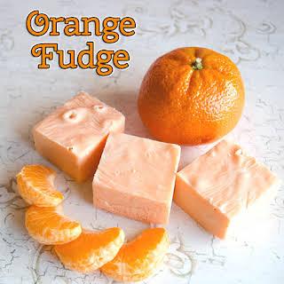 Easy Orange Microwave Fudge.