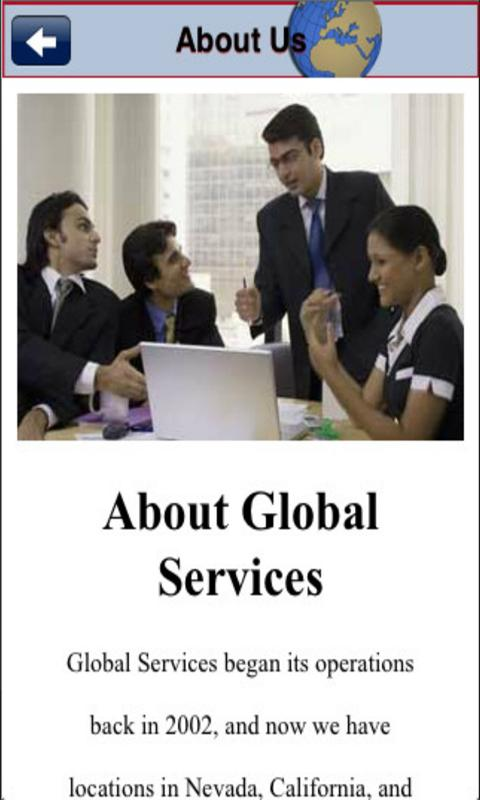 Global Services - screenshot