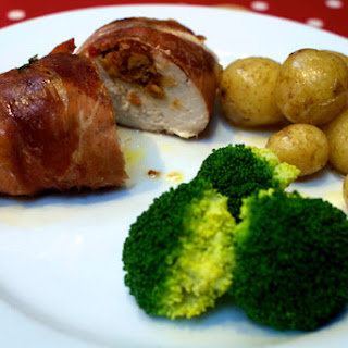 Peanut Butter and Pineapple Stuffed Chicken Breasts Wrapped in Parma Ham