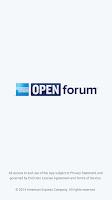 Screenshot of American Express OPEN Forum®