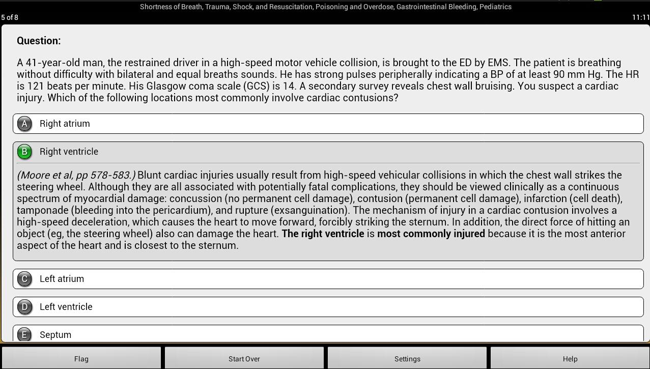 Emergency Medicine PreTest - screenshot