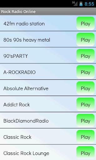 ロック音楽のラジオ