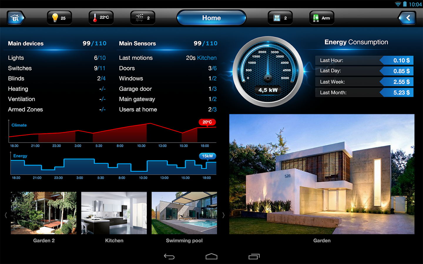 Fibaro for Tablet- screenshot