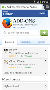 Firefox - screenshot thumbnail