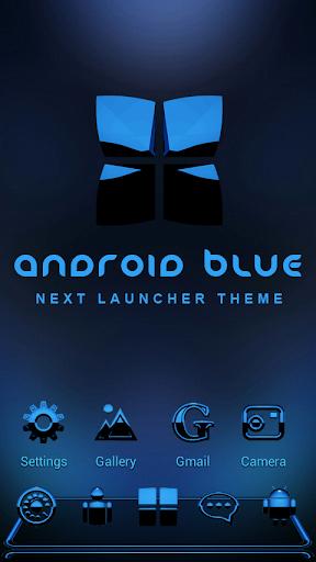 Next Launcher Theme A. Blue