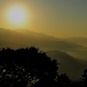 Sun Rise by Subhasis Ghosh - Landscapes Mountains & Hills ( hills, mountain, india, sunrise, landscape )