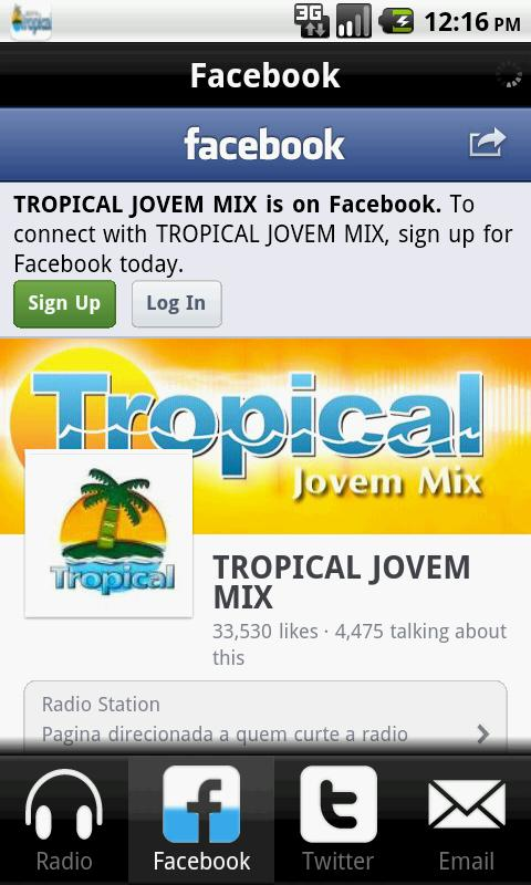 Radio Jovem Tropical- screenshot