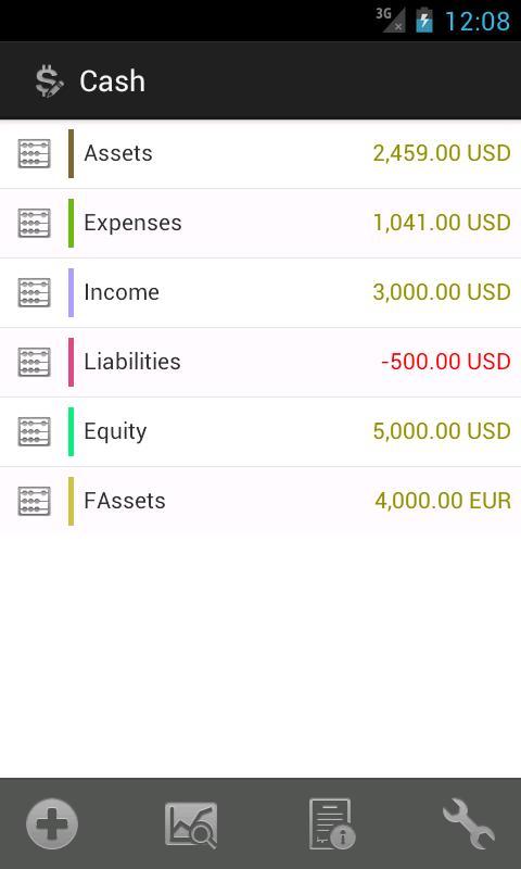 Cash - screenshot