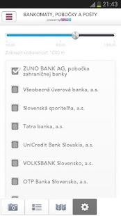 Bankomaty, pobočky a pošty SK - screenshot thumbnail