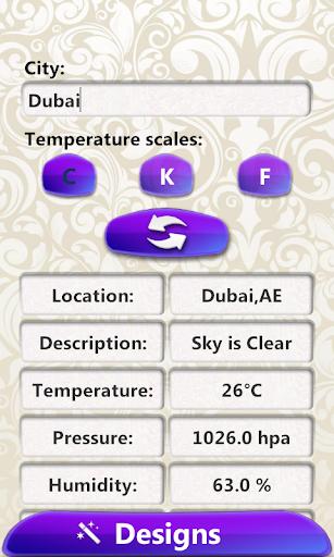 Climate Weather Clock Widget