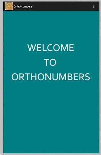 Orthonumbers - Full Mobile
