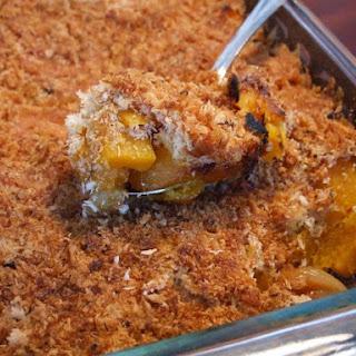 Butternut Squash- Cheddar Gratin w/ Rosemary Breadcrumbs